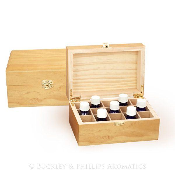 Wooden Oil Storage Box - 15 Compartment