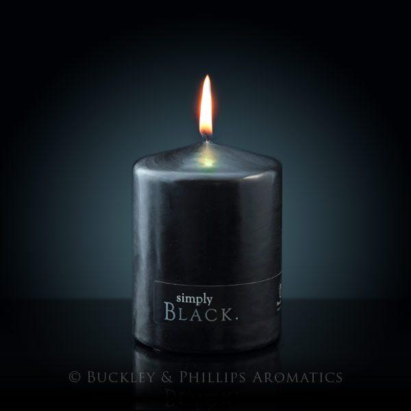 Candle - Simply Pillar - Black Standard