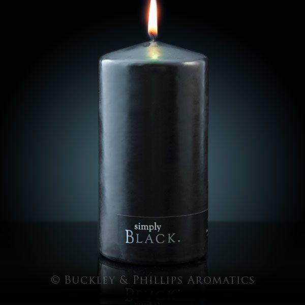 Candle - Simply Pillar - Black Large