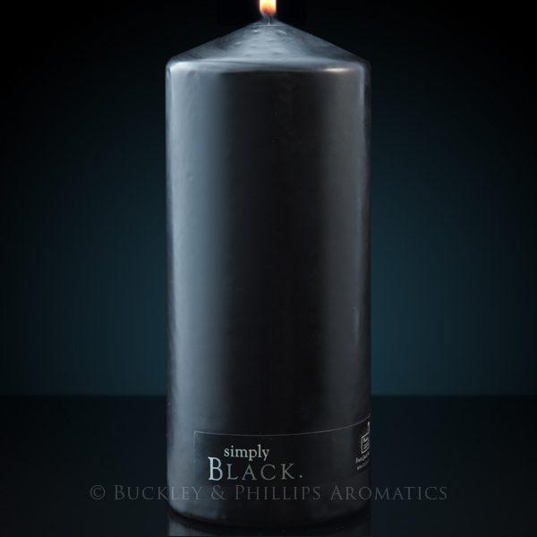 Candle - Simply Pillar - Black XLarge