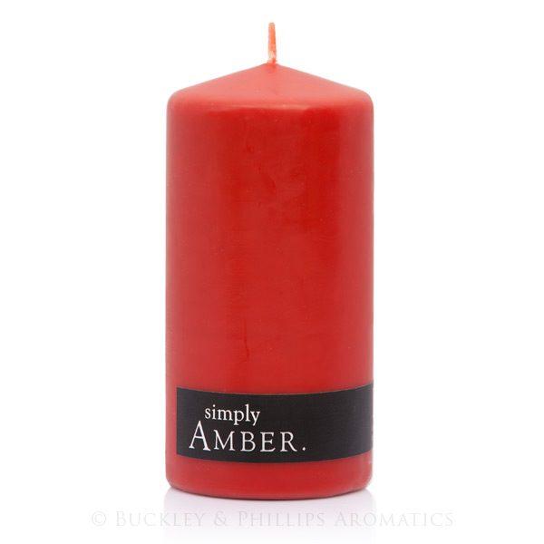 Candle - Simply Pillar - Amber
