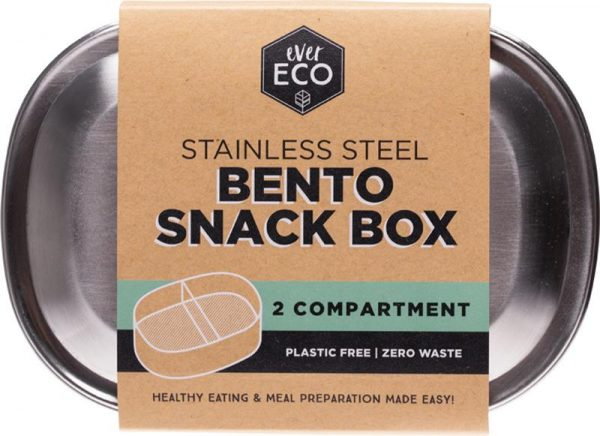 Ever Eco Stainless Steel Bento Box 2 Compartment 580ml