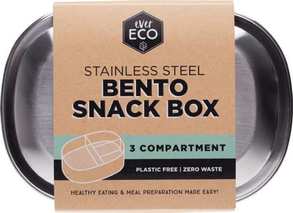 Ever Eco Bento Box Stainless Steel 3 Compartment