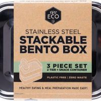 Ever Eco Stackable Bento Stainless Steel + Mini Container