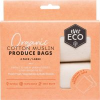 Ever Eco Produce Bags Muslin 4pk