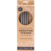 Ever Eco Smoothie Straws Stainless Steel 4 pack